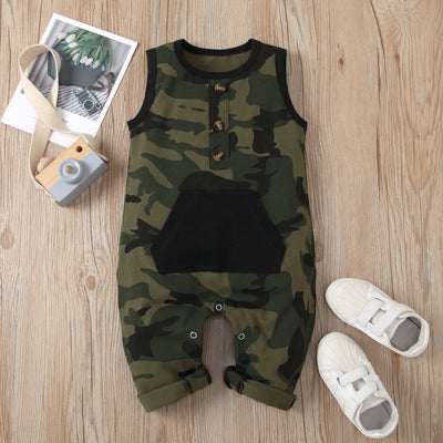 Cool Camouflage Printed Baby Jumpsuit