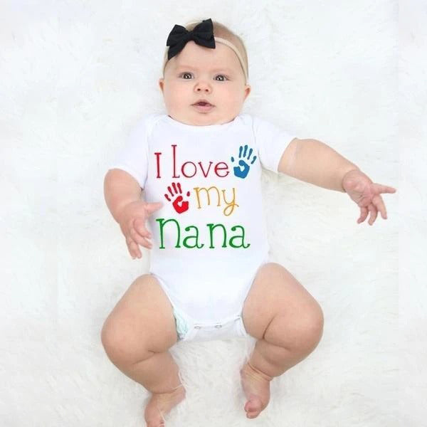 """I Love My Nana"" Newborn Boys Girls Romper"
