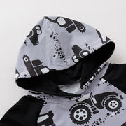 Cool Car Pattern Hoodie Baby Boy Set