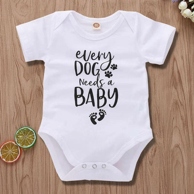 Every Dog Needs A Baby Print Romper