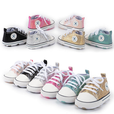 Lovely Allover Sequins Non-Slip Baby Shoes