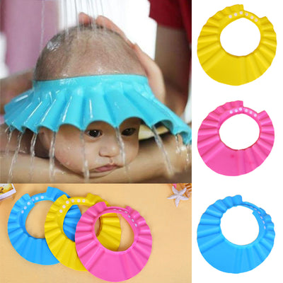 1PC Baby Shampoo Shower Cap Adjustable Bathing Bath Protect Cap