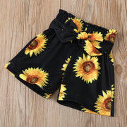 3PCS Mama's Bestie Sunflower Printed Baby Set