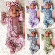 2PCS Lovely Mermaid Printed Baby Jumpsuit