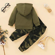 "2PCS ""My Parents Did Not Practice Social Distancing"" Camouflage Printed Baby Set"
