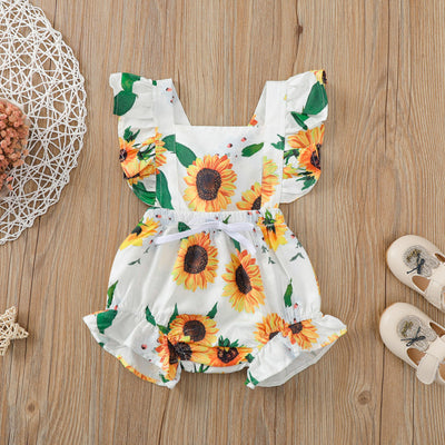 Pretty Sunflower Printed Baby Romper