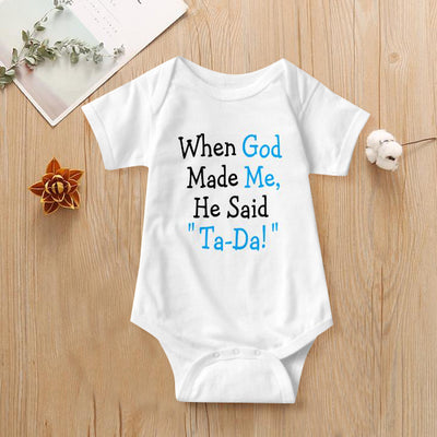 Funny Letter Printed Baby Romper