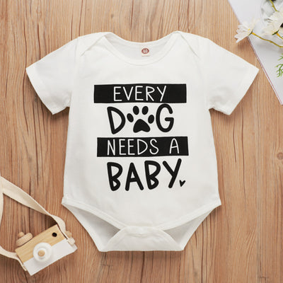 """Every Dog Needs A Baby""Lovely Baby Romper"