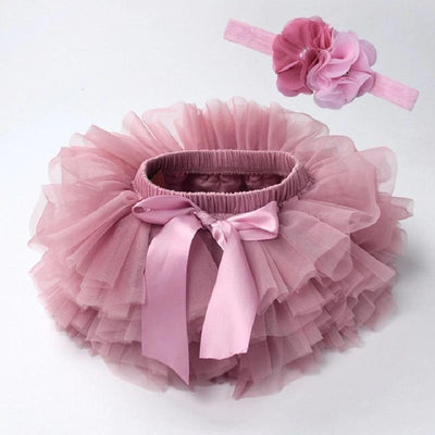 Newborn Photography Tutu Skirt Headband-Pink