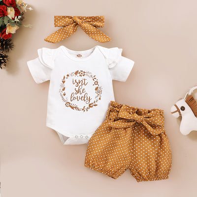 Lovely Polka Dots Printed Baby Set