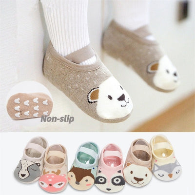 Lovely Cartoon Non-Slip Cotton Soft and Comfortable Toddler Floor Socks