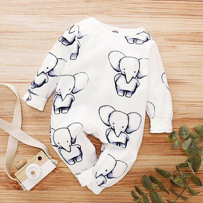 Cute Full Printed Elephant Jumpsuit