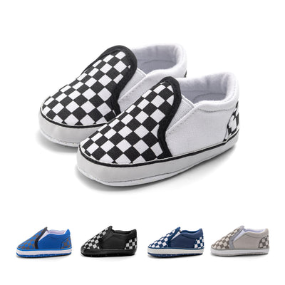 Baby Boy Girl Plaid Anti-slip Canvas Shoes