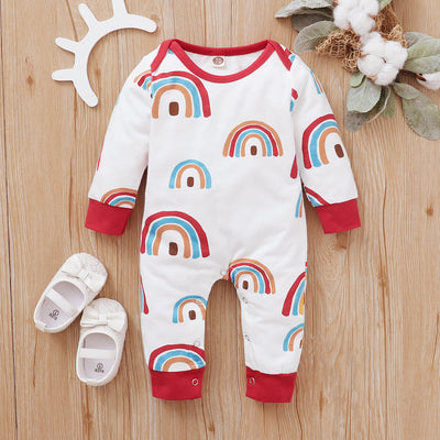 Cute Full Rainbow Printed Baby Jumpsuit