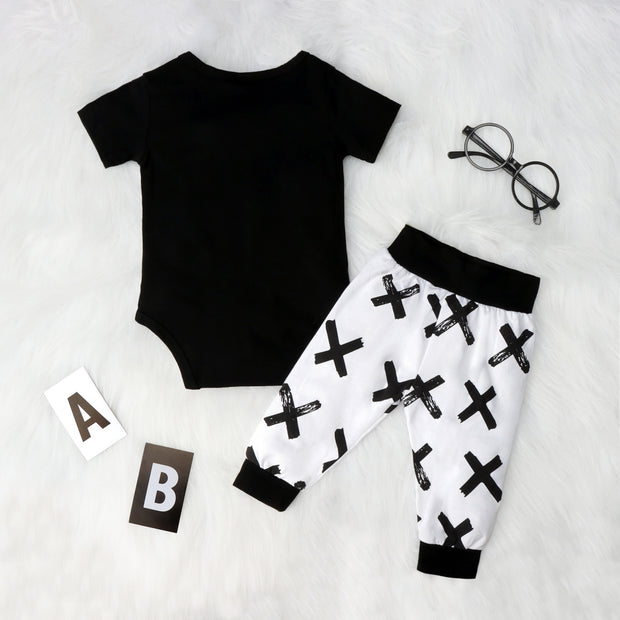 2PCS Straight Outta Quarantine Letter Printed Baby Set