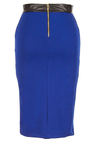 Textured Bodycon Pencil Skirt