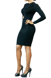 Carly Long Sleeve Wrap Dress