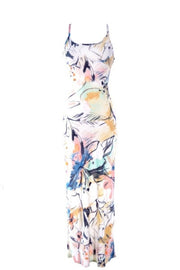 Flower Graf Bodycon Maxi Dress