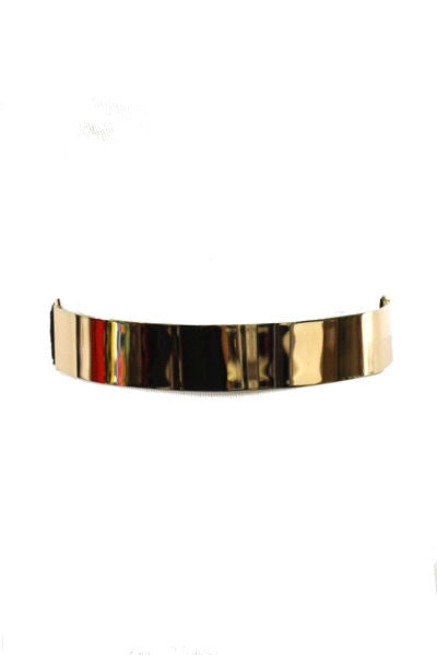 Gold Metal Plate Elastic Belt