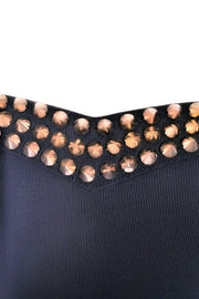 Gold Spiked Strapless Dress