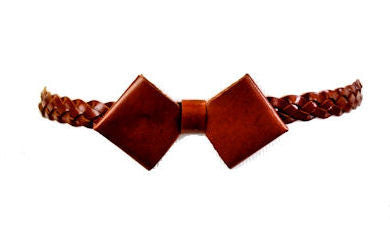 Braided Bow Belt