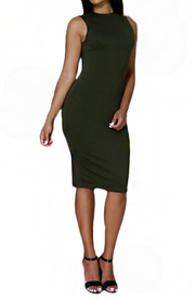 Backless Midi Bodycon Dress