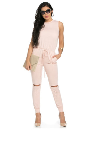Talia Slit Knee Jumpsuit