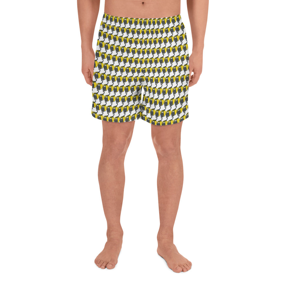 Big Taco Cat - Men's Athletic Long Shorts
