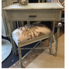 Bramble's Cane Vanity with Stool