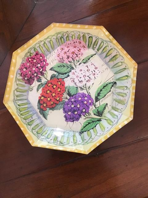 PLATE DECOUPAGE,Consign & Design,Misc.Table Top,WELLINGTON- Consign & Design Consignment Store South FL