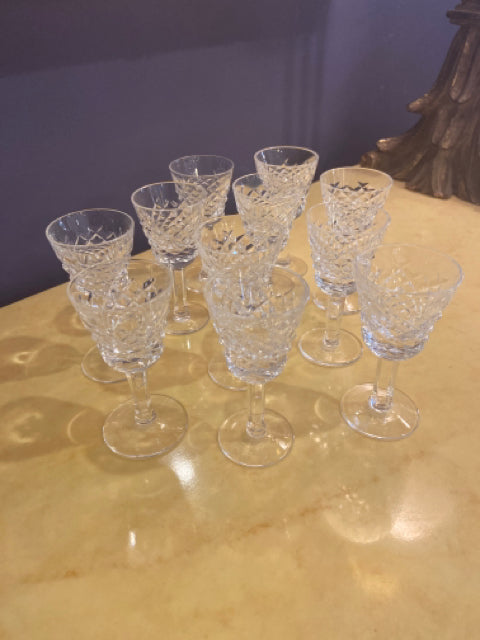 CRYSTAL SET OF 11 CORDIALS