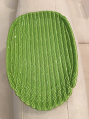 ITALIAN GREEN ASPARAGUS DISH,Consign & Design,Home Decor Gifts,WELLINGTON- Consign & Design Consignment Store South FL