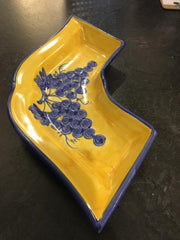 BLUE/YELLOW LARGE SERVING BOWLS,Consign & Design,Misc.Table Top,clearance, PGA- Consign & Design Consignment Store South FL