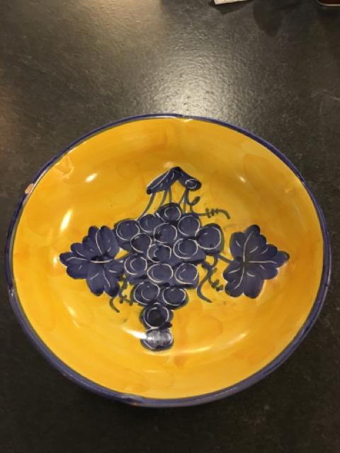 BLUE/YELLOW SALAD BOWLS,Consign & Design,Misc.Table Top,clearance, PGA- Consign & Design Consignment Store South FL