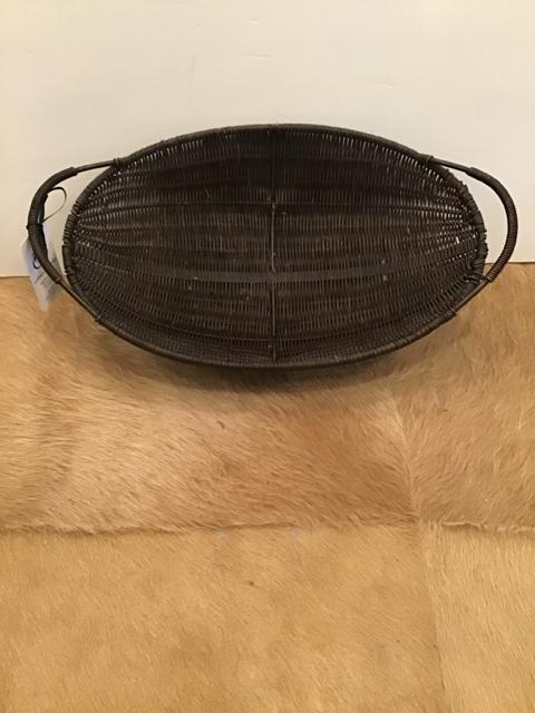 BROWN WICKER BASKET,Consign & Design,Home Accessories,clearance, WELLINGTON- Consign & Design Consignment Store South FL