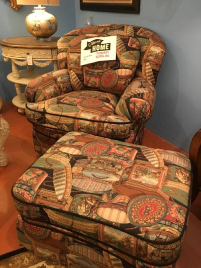CLEARANCE CHAIR AND OTTOMAN WAS $995 NOW$295 CALL NOW TO BUY 561-798-5222