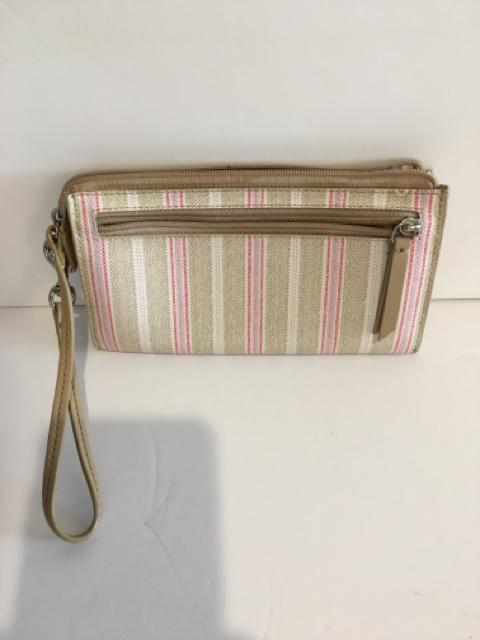 COACH LEGACY WEEKEND TICKING STRIPE ZIPPY WALLET/ WRISLET,Coach,Handbag,clearance, Coach, PGA- Consign & Design Consignment Store South FL