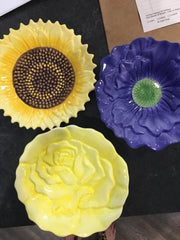 FLOWER DISHES-SET OF THREE,Consign & Design,Misc.Table Top,clearance, PGA, Tabletop- Consign & Design Consignment Store South FL