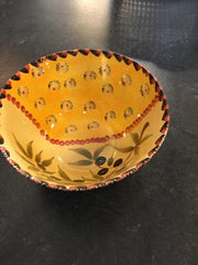 ITALIAN POTTERY LARGE BOWL,Consign & Design,Glassware,clearance, PGA- Consign & Design Consignment Store South FL