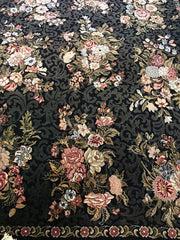 Rug Rectangular with Black Background 10' X 14',Consign & Design,Rectangular Rug,clearance, PGA, Rug- Consign & Design Consignment Store South FL