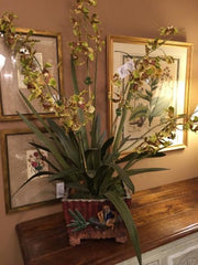 STALK MARKET ORCHID CENTERPIECE,Consign & Design,Silk Plant/Tree,clearance, WELLINGTON- Consign & Design Consignment Store South FL