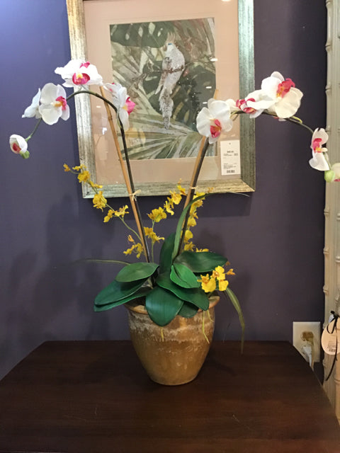 SILK WHITE ORCHID ARRANGEMENT