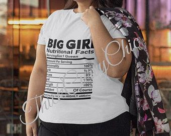 Big Girl Nutritional Facts Tee