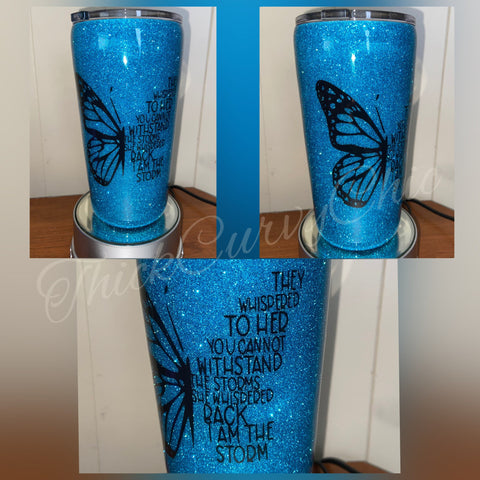 Butterfly Storm Tumbler