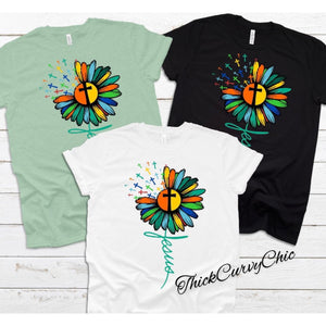 Jesus Flower Cross tee