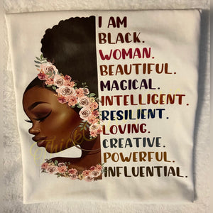 I Am Black Woman tee