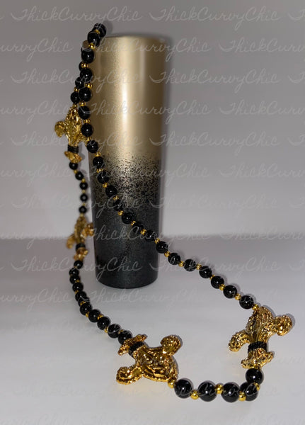 I Bleed Black and Gold Tumbler