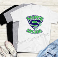 SUPER SENIOR TEE (TOP AND BOTTOM DESIGN)