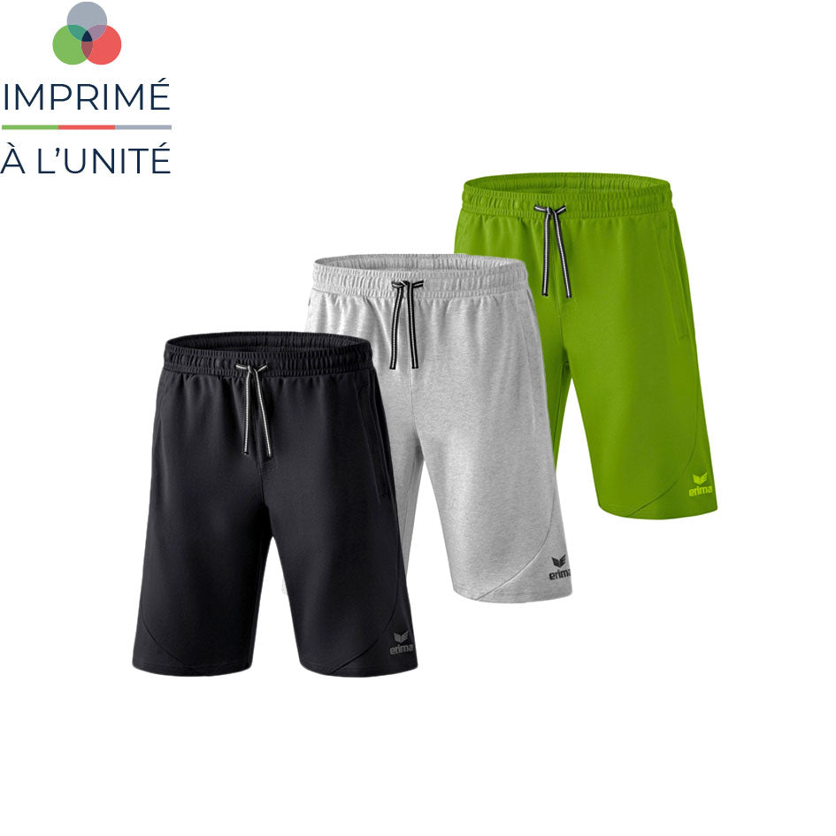 Short de sport erima personnalisable