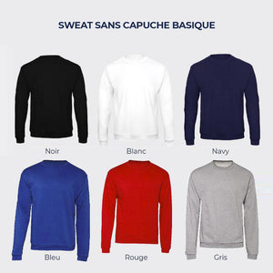 "Sweat sports de glisse ""Je tends le bâton"" (options : capuche / zip)"